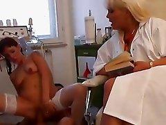 Naughty German nurses please their patient