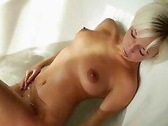 tight blond having fun in bathroom