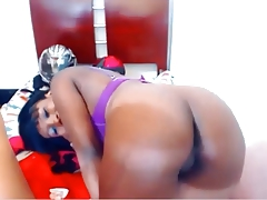 Ebony Babe Ass Show...