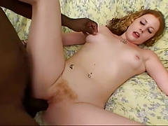 Hairy Redhead Cherry Gets Her Pink Slit Mule Dicked