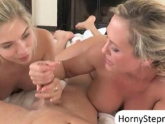Brandi Love and Lia Lor hot threesome with a hard man meat