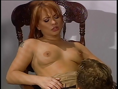 Brunette desperate for the taste of cock gets one thrust in her mouth