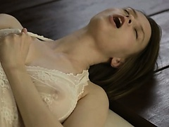 shocking busty Beatrice cumming with you