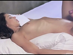 Shaved coed in insane erotic movie