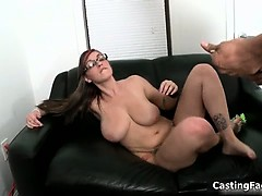 Hot brunette slut from BackRoomFacials part5