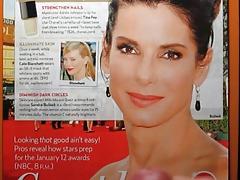Sandra Bullock Cum Tribute Bukkake No. 1