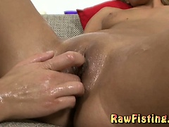 Hot euro babes fisting pussy