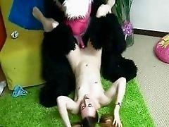 Funny Sex Toy Teen Panda Fucking
