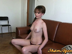 Romainian amateur slut wants to become a porn star