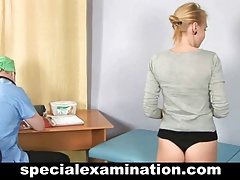 Gyno exam for sweet blonde