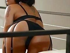 Very hot exotic 18yo girl in sexy black lingerie