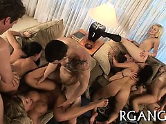 Gangbang with cute awesome cuties