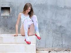 Luxury peening of super skinny teen
