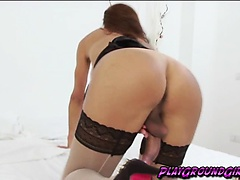 Amazingly hot TS Susy playing with her meat