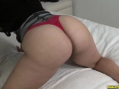 Carmin flaunts her big booty.
