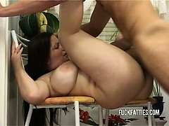 Hot BBW Gets Rewarded With Cock For Doing The Dishes