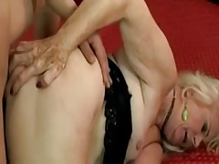 Hot Euro Granny in Stockings Getting It Good