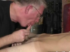 Master wants a spunk geyser and fellates the twink