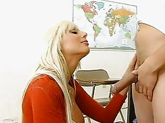 Horny milf Puma Swede hooks her mouth on lucky mans hardon and loved it