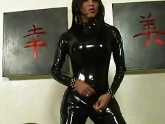 Gorgeous Shemale Wearing Latex