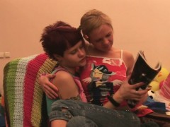 Adorable teen lesbian honeys are amateurs