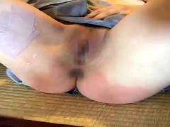 Kinky Asian lady on a leash gets fucked by a group of guys