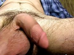 Atlas Evans loves wanking his stiff hard cock until he cums