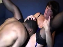 Sultry wife in lingerie has a dark bull fulfilling her needs