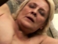 Desperate granny likes it hard