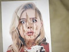 Chloe Moretz cum tribute 39