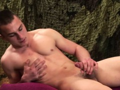 Young and Muscular Alex Novak Jerks Off