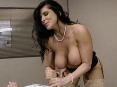 Curvy Boss Romi Rain Enjoys Janitors Schlong