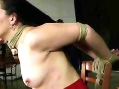 Busty girl is ready for a lot of pain BDSM