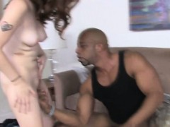 Squirting domina cleaned by cuckold guy