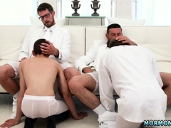 Gay male boys in short shorts Their mouths packaged on