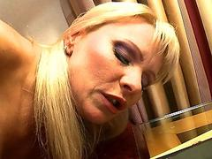 Horny mommy gets her tight ass fucked hard