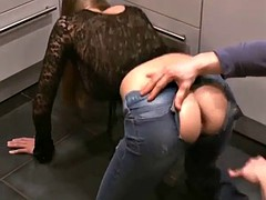 champagne bottle up her ass fisting