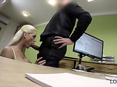 LOAN4K. Blondie hotty pays with fuck-fest for the future of her biz