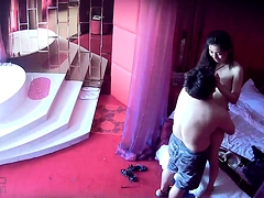 Hot milf with tiny tits has fun with her lover on hidden cam