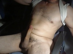jerk and cum in chair