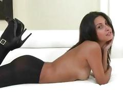 Sexy babe tries out modeling and porn