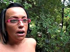 a skanky fuckin' bitch takes hard cock