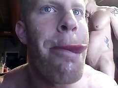 Muscled hunk gets pounded hard in the ass and facialized