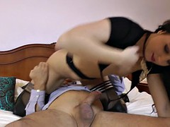 MILF babe gets punished hard with a stiff boner