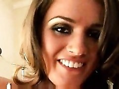 Glamorous girl Tori Black giving a handjob