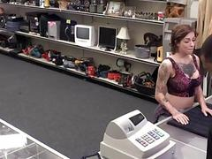 Harlow Harrison fucked in the pawnshop