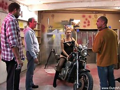Dutch sex in car garage