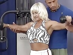 german pierced muscle mom roug gym banged