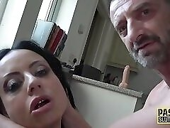 Tied up busty sub slut
