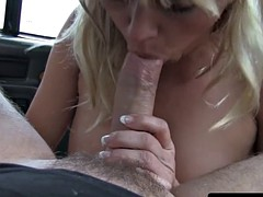 American firsttimer taxi bigtits babe shows